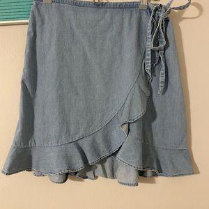 J.crew wrap skirt